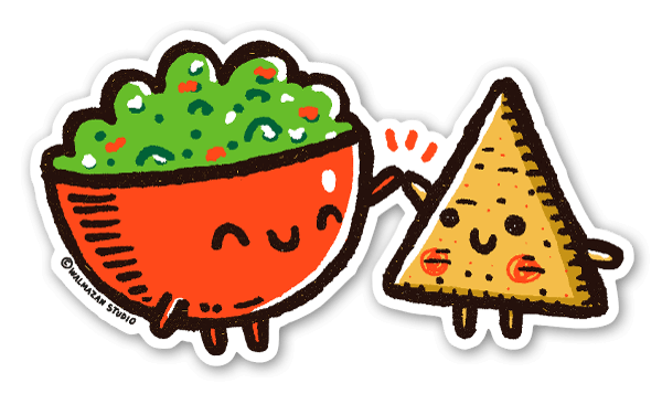 Guac and Chip sticker