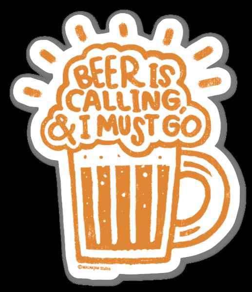 Beer is Calling naklejka