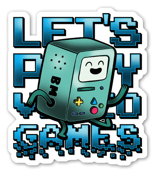 Lets Play Games sticker
