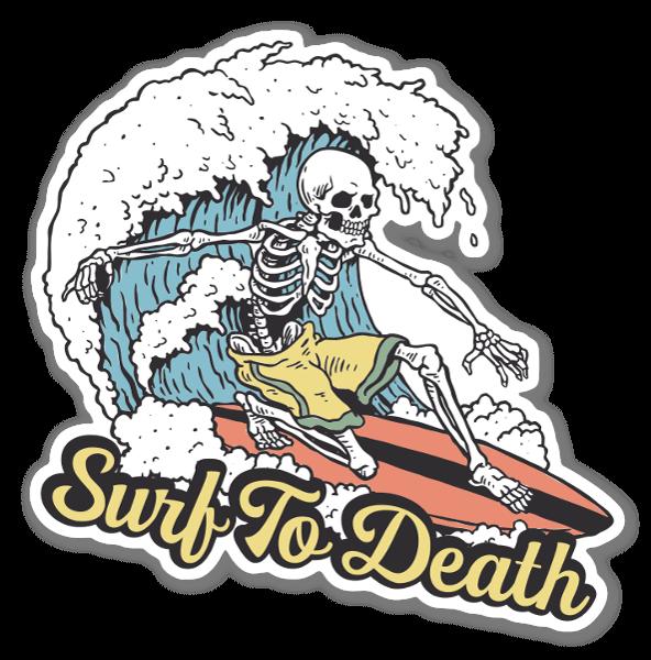 Surf To Death sticker