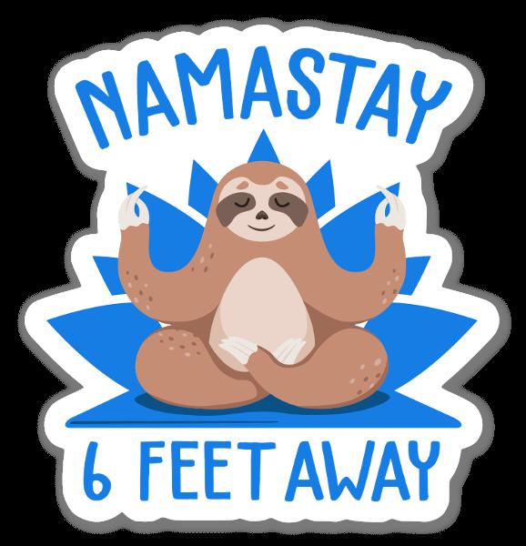 Namastay Back sticker