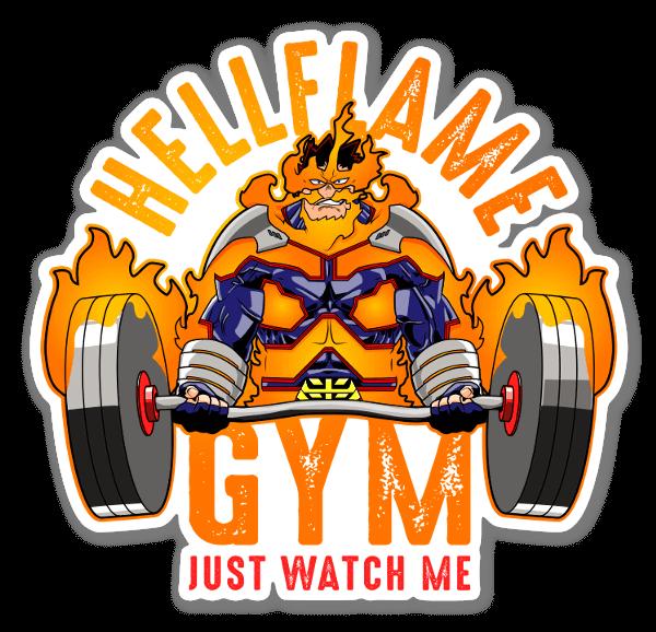 Hellflame Gym sticker