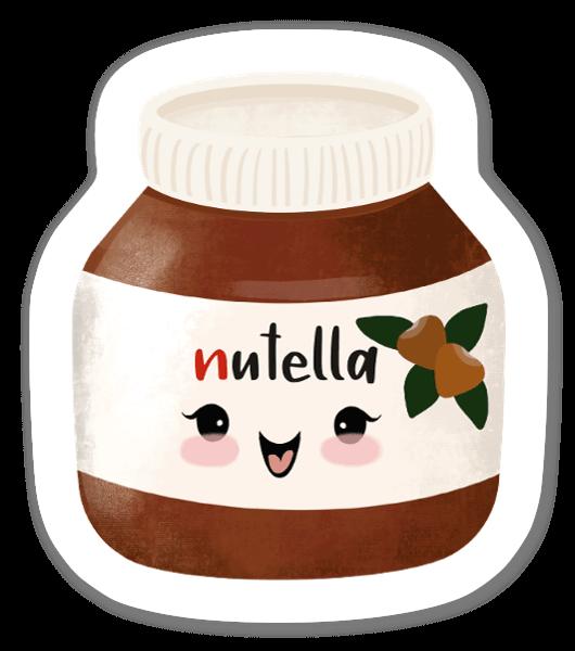 Frasco de Nutella giro sticker