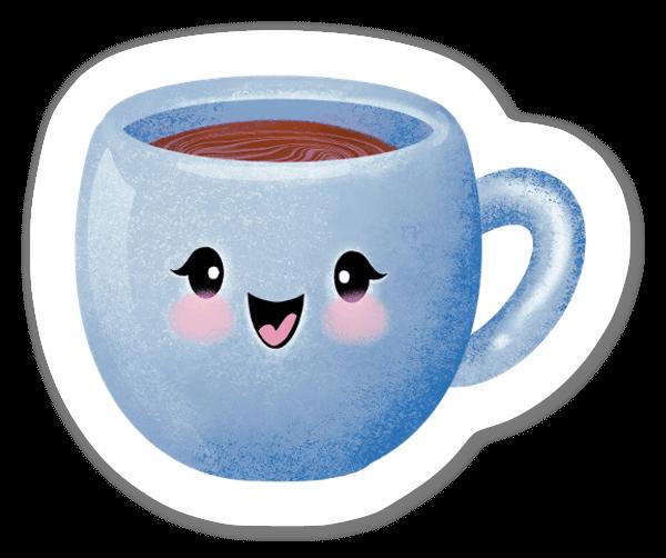 Chávena Feliz (azul) sticker