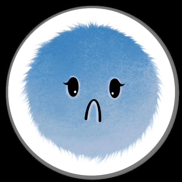 'Sad' Mood Blobs Collection sticker
