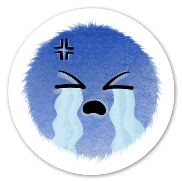 Mood Blob Collection- Cry sticker
