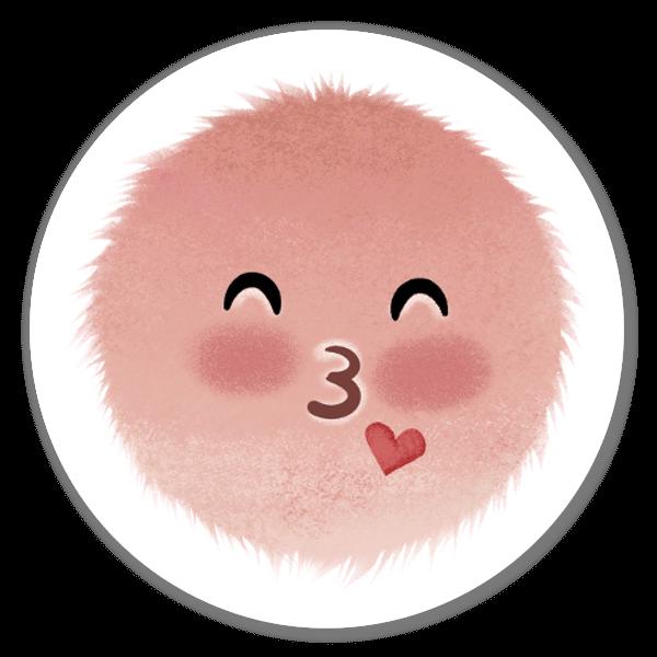 Mood Blobs Collection- Kiss  sticker