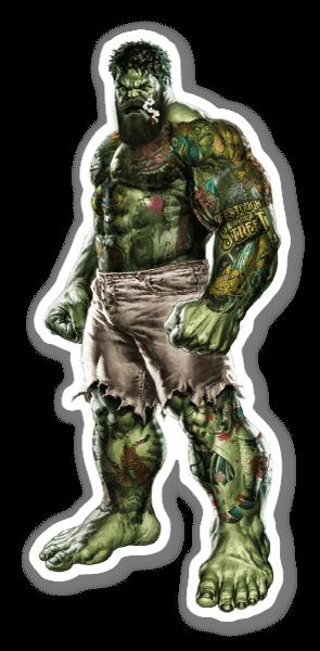 The Incredible Bearded Hulk sticker