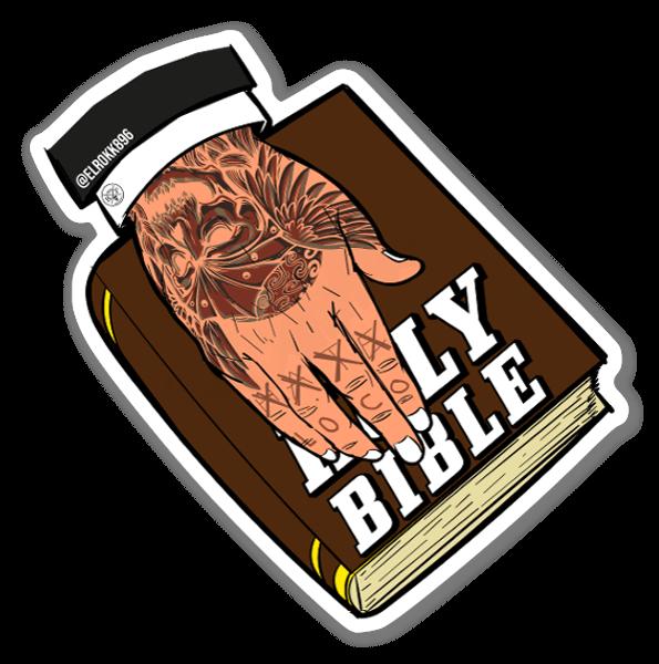 The Bible sticker
