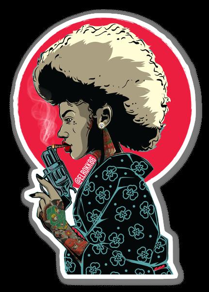 Afro Lady sticker