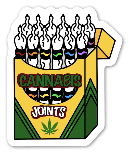 Cannabis Joints (Crayons)  sticker