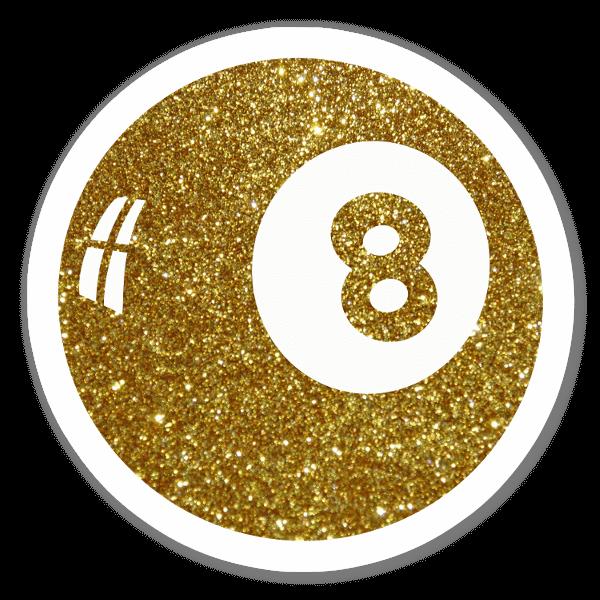 Glitter 8 Ball sticker