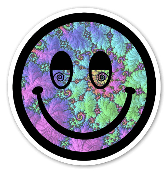 Trippy Smiley Face sticker