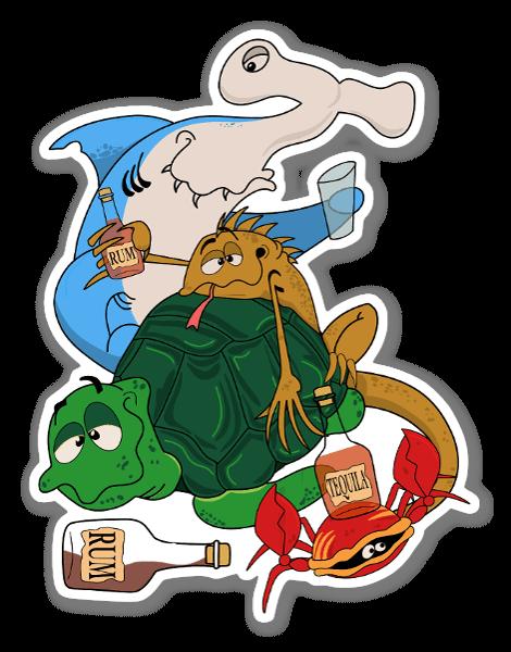 Equipa de Bebiba dos Galápagos sticker