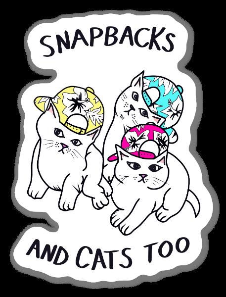 Snapbacks and Cats too sticker