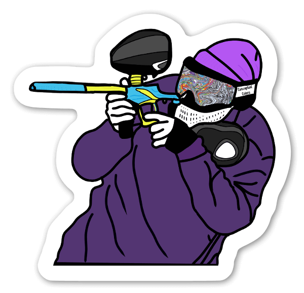 Paintball Player sticker