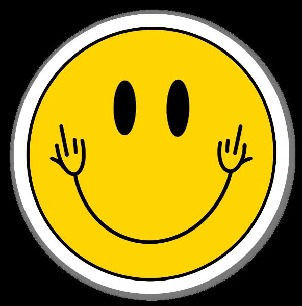 Fuck you, I'm smiling  sticker