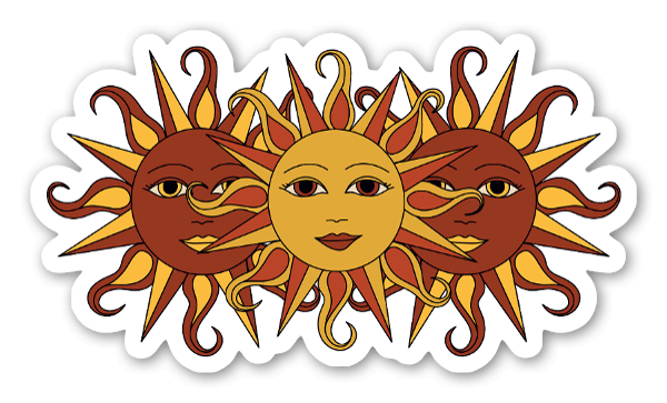 3つの太陽 ステッカー