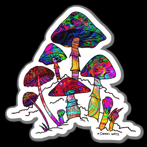 Giardino di funghi sticker