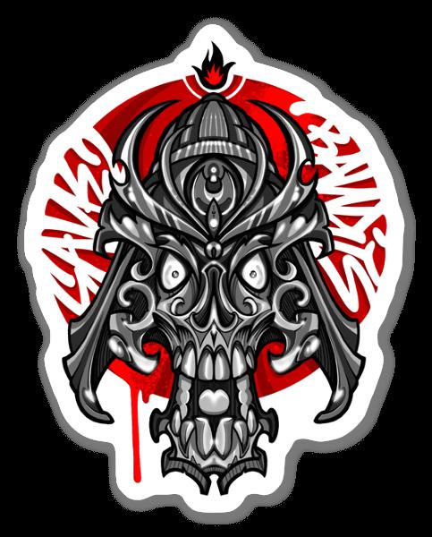 SANE2 - Teschio samurai sticker