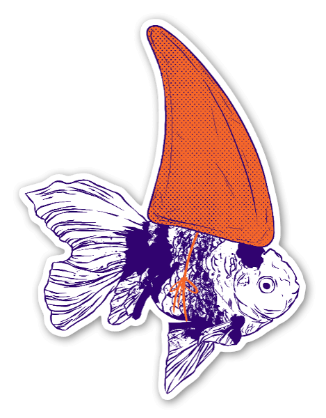 Big fish in a small pond sticker