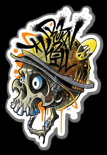SANE2 - BORN 2 KILL sticker