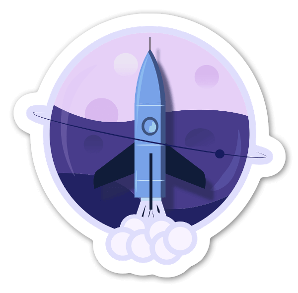 Jet On a Chemical Planet sticker