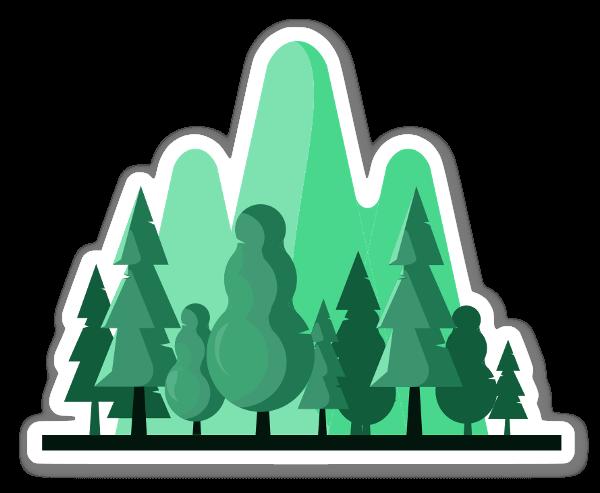 Autocolante de árvores sticker