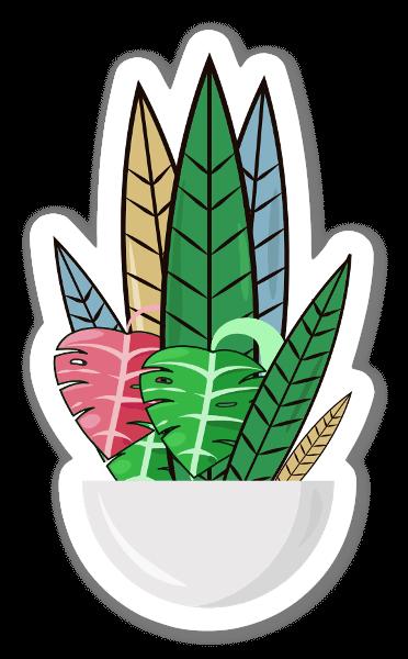 Multicolored Leaf Bowl   sticker