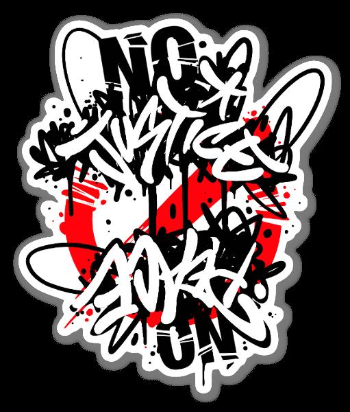SANE2 - No justice No peace  sticker