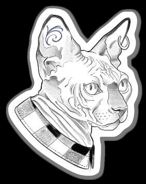 WEE LUCIE - Gato Loco sticker