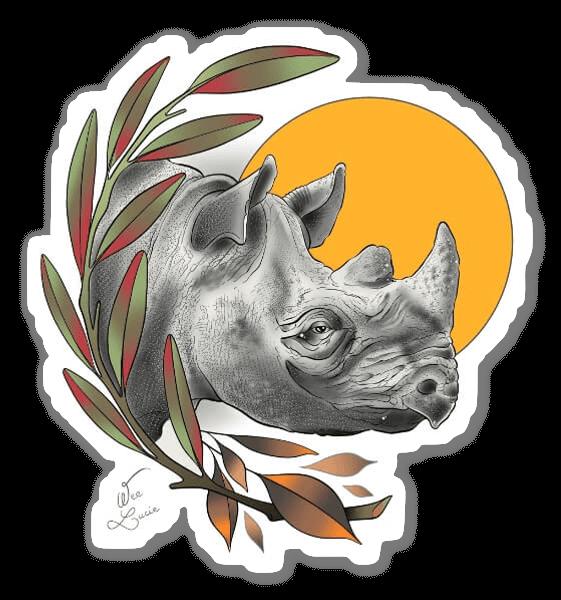 WEE LUCIE - Rhino sticker