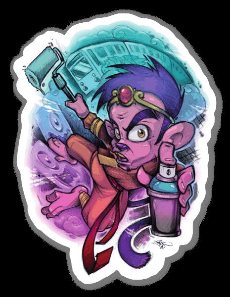 Grafitti Macaco sticker