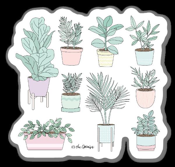 House Plants Guide sticker