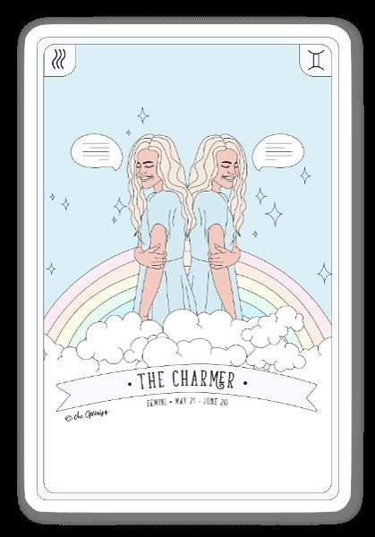 The Charmer - Gemini Zodiac sticker
