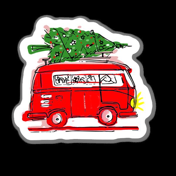 Christmas Tree Travel sticker