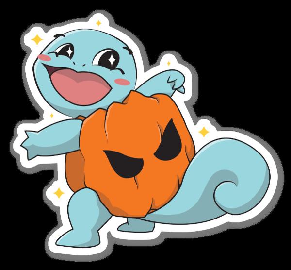 Pumpkin Squirtle (Halloween)  sticker