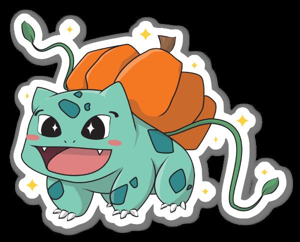 Bulbasaur Abóbora (Halloween) sticker