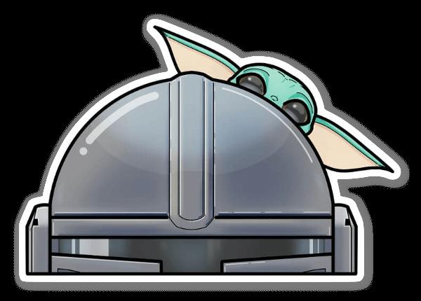 A Mando and His Bounty sticker