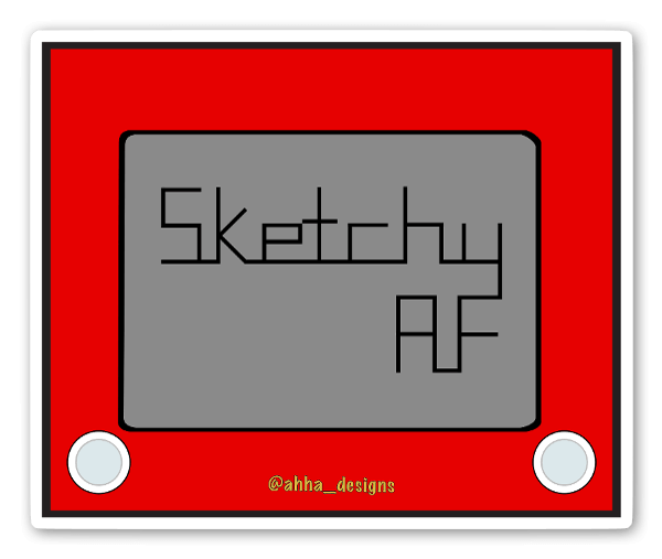 Autocolante Sketchy AF sticker