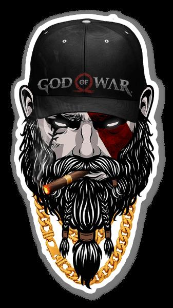God Of War sticker