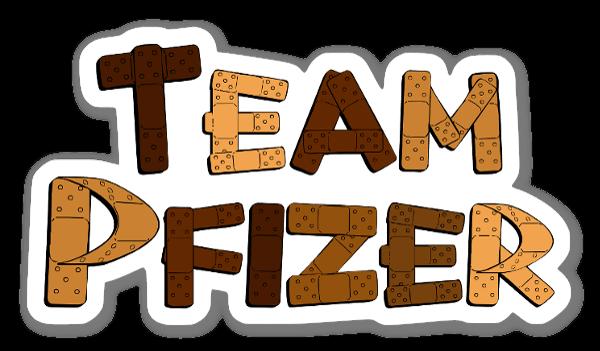 Team Pfizer sticker