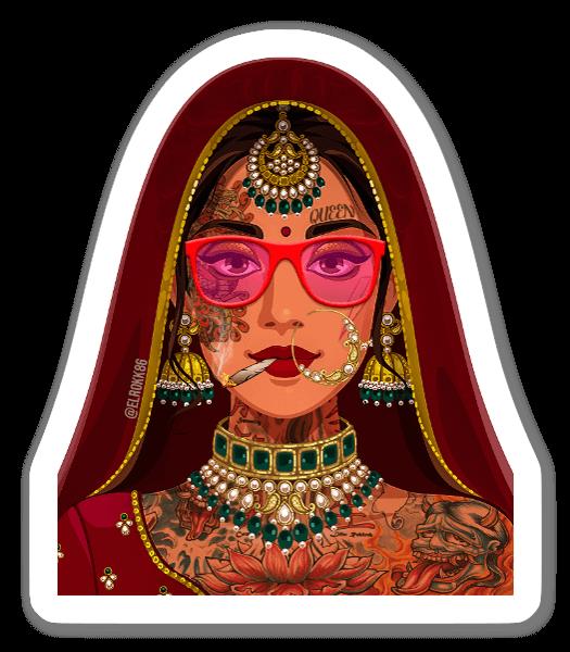 Indian Queen sticker