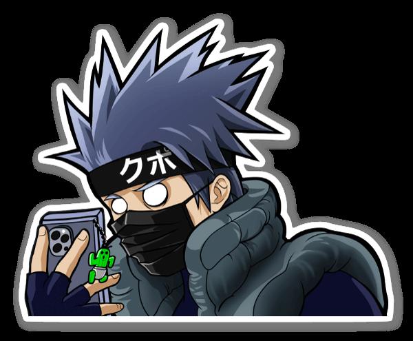 Kakashi's Phone sticker
