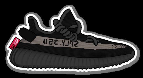 Yeezy 350 Core Black sticker