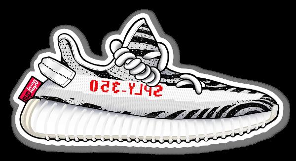 Yeezy 350 Zebra sticker