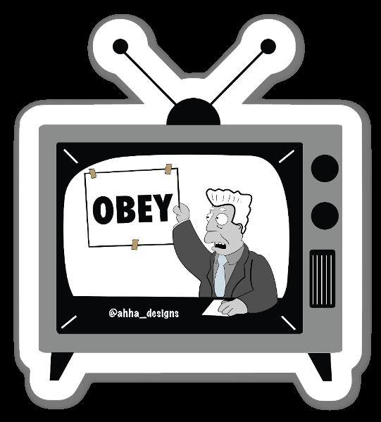 Obey Kent sticker