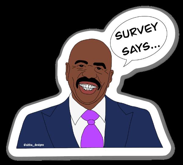 Autocolante  Survey Says sticker