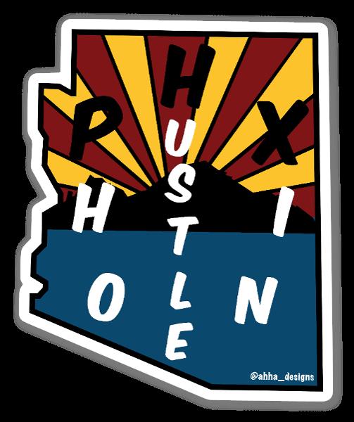 PHX Hustle sticker