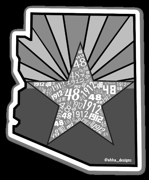 Adesivo AZ 1912/48 B&W  sticker